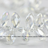 Briolette Pendant Waterdrop Austrian crystal beads 6*12mm 50pcs Top quality Teardrop glass beads for jewelry making bracelet DIY - Hespirides Gifts - 17