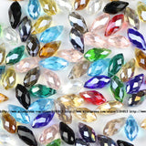 Briolette Pendant Waterdrop Austrian crystal beads 6*12mm 50pcs Top quality Teardrop glass beads for jewelry making bracelet DIY - Hespirides Gifts - 13