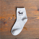 NEW shoth korean sausage Faithful dog Autumn Winter high quality cotton white socks half causal sports socks short tube sox