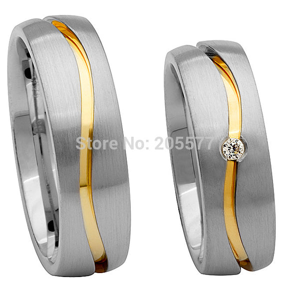 high end custom size Matching Promise Rings jewelry wedding band rings sets for both him and her - Hespirides Gifts