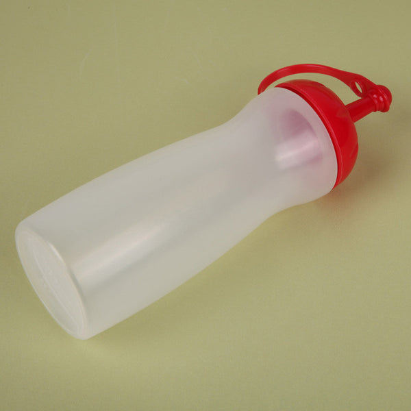 V1NF Heat Resistant Leakproof Vinegar Sauce Dispenser Container Squeeze Oiler Ketchup Bottle with Cover Red M - Hespirides Gifts