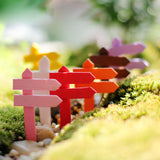 Wood Deer Head Crafts Mini World Landscaping Decorative Micro Artificial Small Fence Signpost Diy Accessories Material K6722 - Hespirides Gifts - 1
