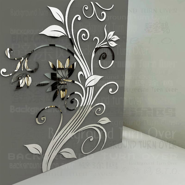 New arrival DIY spring nature single elegant flower wall stickers for home corner decoration decorative art poster PSY-219 - Hespirides Gifts