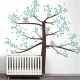Spring Koala Tree Vinyl Wall Decal Removable Wall Sticker Tree Nursery Vinyls Baby Room Decor Wall Stickers Home Decoration D503 - Hespirides Gifts - 1