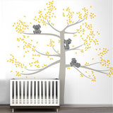 Spring Koala Tree Vinyl Wall Decal Removable Wall Sticker Tree Nursery Vinyls Baby Room Decor Wall Stickers Home Decoration D503 - Hespirides Gifts - 3