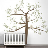 Spring Koala Tree Vinyl Wall Decal Removable Wall Sticker Tree Nursery Vinyls Baby Room Decor Wall Stickers Home Decoration D503 - Hespirides Gifts - 5