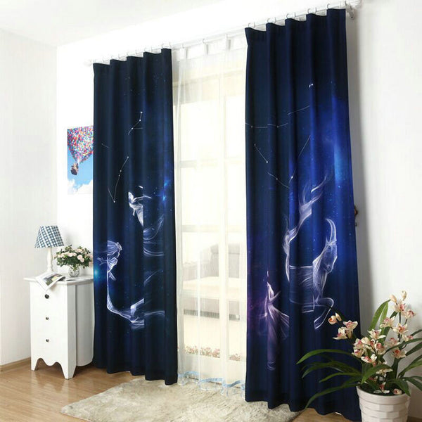 The Constellation Curtains Aquarius/Pisces/Aries/Taurus/Gemini/Cancer/Leo/Virgo/Libra/Scorpio/Sagittarius /Capricorn Zodiac - Hespirides Gifts