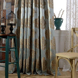 Luxury thick Jacquard blackout window curtains for living room made to order window screening curtains panel home decoration - Hespirides Gifts - 1
