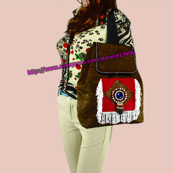 Tribal Vintage Hmong Thai Indian Ethnic Boho hippie ethnic bag, rucksack backpack bag SYS-261 - Hespirides Gifts