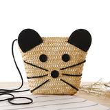 Newest Cute Cartoon Woven Shoulder Mini Bags Straw Summer Women Weave Crossbody Pouches Ladies Small Beach Handbag G0741 - Hespirides Gifts - 1
