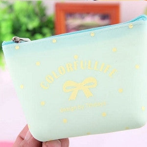 Women Cartoon Small Candy Color Leather Coin Purse Change Purse Mini Money Bag Girls Wallet Pouch Kids Gifts