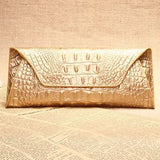 Genuine leather bag high quality crocodile pattern women wallets fashion purse famous brand evening clutch bag dollar price A380 - Hespirides Gifts - 3