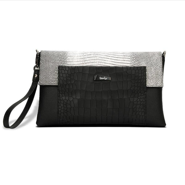 New brand genuine leather women bag fashion Alligator grain Stitching quality women Clutch bag shoulder cowhide Envelope bag - Hespirides Gifts