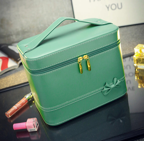 Fashion High-grade Makeup Cosmetic Bag Compartment Large Cosmetics Box Storage Bag Setting Special Offer with Interlayer - Hespirides Gifts - 14