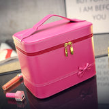 Fashion High-grade Makeup Cosmetic Bag Compartment Large Cosmetics Box Storage Bag Setting Special Offer with Interlayer - Hespirides Gifts - 3