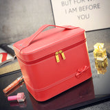 Fashion High-grade Makeup Cosmetic Bag Compartment Large Cosmetics Box Storage Bag Setting Special Offer with Interlayer - Hespirides Gifts - 11
