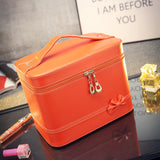 Fashion High-grade Makeup Cosmetic Bag Compartment Large Cosmetics Box Storage Bag Setting Special Offer with Interlayer - Hespirides Gifts - 4