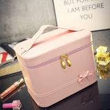 Fashion High-grade Makeup Cosmetic Bag Compartment Large Cosmetics Box Storage Bag Setting Special Offer with Interlayer - Hespirides Gifts - 13
