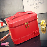 Fashion High-grade Makeup Cosmetic Bag Compartment Large Cosmetics Box Storage Bag Setting Special Offer with Interlayer - Hespirides Gifts - 5