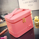 Fashion High-grade Makeup Cosmetic Bag Compartment Large Cosmetics Box Storage Bag Setting Special Offer with Interlayer - Hespirides Gifts - 7