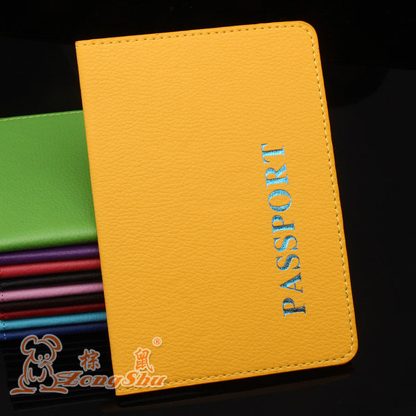 Passport Id Bank Card Note Holder Litchi Grain Pu Passports Tickets Holder Passport Bag Passport Cover Clip For Leather Desk Accessories & Organizer