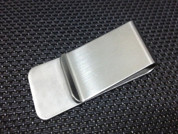 TEXU stainless steel money clip Silver man Money Clip slim High Quality - Hespirides Gifts