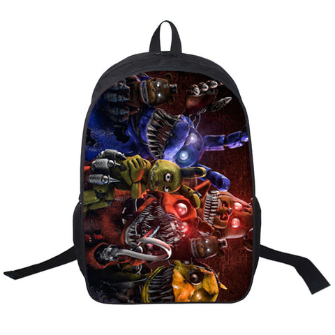 Five Nights Freddys Backpack For Teen Bonnie Fazbear Foxy Freddy Chica Backpack Boys Girls School Bags Kids Bags Daily Backpacks - Hespirides Gifts - 1
