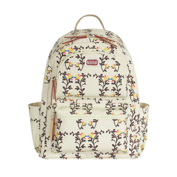 SUNVENO New Fashion Baby Diaper Nappy Bag Maternity Bag Backpack Eco-Friendly Waterproof Canvas Sweet Peas Flowers 4 Colors - Hespirides Gifts - 2