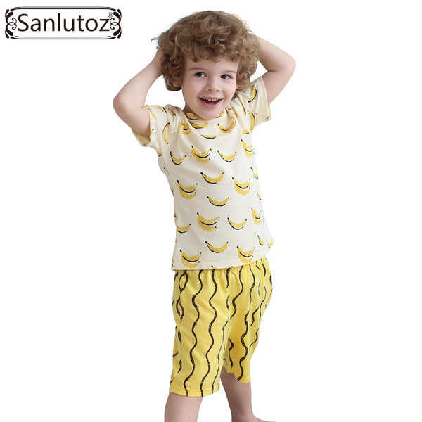 Boys Clothing Set Cotton Kids Clothes Summer Children Clothing Set for Boys Sport Suits Banana (Tshirts + Shorts) Brand - Hespirides Gifts - 2