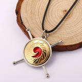 HSIC JEWELRY 10pcs/lot Anime Naruto Uzumaki Naruto Vortex Model Nine Lama Nine-tailed Fox Logo Pendant Necklace for Fans HC11559 - Hespirides Gifts - 1