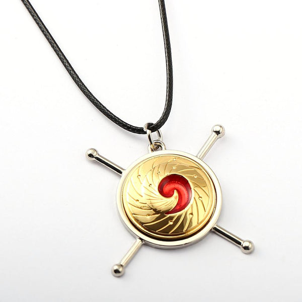 HSIC JEWELRY 10pcs/lot Anime Naruto Uzumaki Naruto Vortex Model Nine Lama Nine-tailed Fox Logo Pendant Necklace for Fans HC11559 - Hespirides Gifts - 2