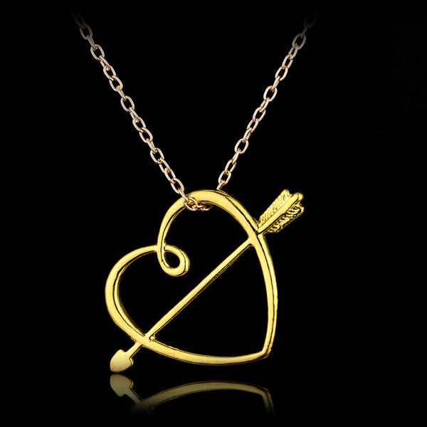 New Arrival Gold And Silver Color HP Necklace Heart And Arrow Pendant Necklace For Women Best Jewelry Gift - Hespirides Gifts - 2