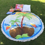 For Summer Round Hippie Tapestry Beach Throw Roundie Towel Yoga Mat Bohemian beach towel poncho de inverno poncho - Hespirides Gifts - 1