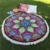 For Summer Round Hippie Tapestry Beach Throw Roundie Towel Yoga Mat Bohemian beach towel poncho de inverno poncho - Hespirides Gifts - 2