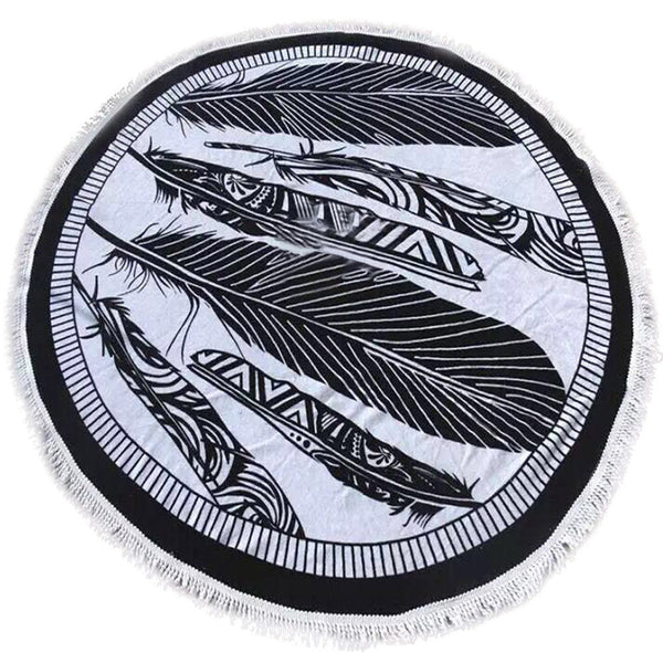 Intricate Design Round Hippie Tapestry Beach Throw Roundie Mandala Towel Yoga Mat Bohemian Geometric High Quality July13 - Hespirides Gifts