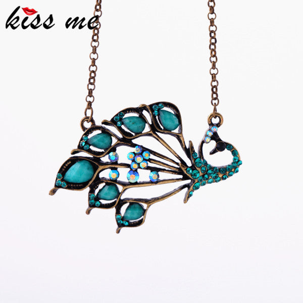 Fashion accessories kiss me vintage peacock women's short design necklace Factory Wholesale - Hespirides Gifts