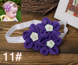 Newborn flower baby girl headbands feather peacock;princess infant elastic hair bands;toddler hair accessories headwear #JH026 - Hespirides Gifts - 24