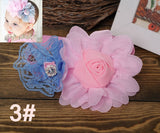 Newborn flower baby girl headbands feather peacock;princess infant elastic hair bands;toddler hair accessories headwear #JH026 - Hespirides Gifts - 18