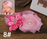 Newborn flower baby girl headbands feather peacock;princess infant elastic hair bands;toddler hair accessories headwear #JH026 - Hespirides Gifts - 9