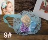 Newborn flower baby girl headbands feather peacock;princess infant elastic hair bands;toddler hair accessories headwear #JH026 - Hespirides Gifts - 23