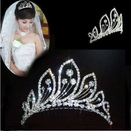 Stunning Bridal Rhinestone Peacock Pattern Crown Hair Comb Pin Tiara Hair Jewelry - Hespirides Gifts
