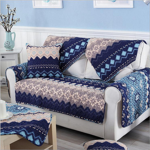 Fleeced Fabric Sofa Cover Bohemian Printing Soft Modern Slip Resistant Sofa Slipcover Seat Couch Cover for living Room - Hespirides Gifts - 2