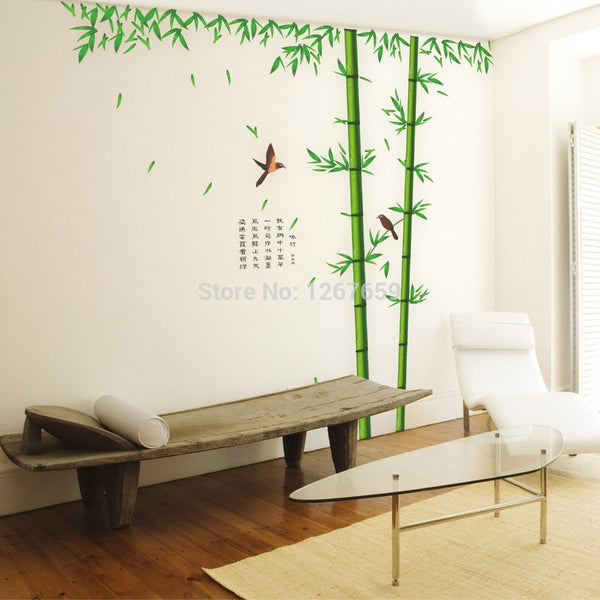 Hot Sell Removable Wall Sticker/BAMBOO Decor/Mural Art Wall Paper Sticker Decals Home Stickers - Hespirides Gifts