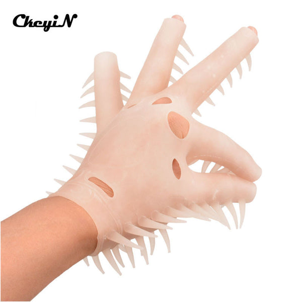 New Fashion 1 pc Silicone Fingerless Sauna Massage Glove Bath Spa Body Massager with Soft Spines Relaxation Beauty Care - Hespirides Gifts