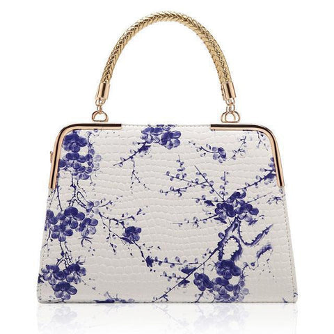 New Blue and White Porcelain Handbags Women Tote Ladies Shoulder Bags Bolsas de Hombro Feminina XA276A - Hespirides Gifts - 1