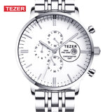 TEZER Watches Men Luxury Brand Sports Full Steel High Hardness Glass Wristwatches For Men Gent's Watch 100M Waterproof Watch - Hespirides Gifts - 1