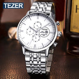 TEZER Watches Men Luxury Brand Sports Full Steel High Hardness Glass Wristwatches For Men Gent's Watch 100M Waterproof Watch - Hespirides Gifts - 3