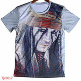 Movie Pirates Of The Caribbean Jack Sparrow Printed Skull Tshirts 3d printing Design Cheap T Shirts male Short Sleeve T-shirts