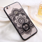 Fashion Sexy Lace Floral Case For iPhone 6 Case For iphone 6S 6 Plus Back Cover Retro Flowers Ring holder Stand Phone Cases HOT! - Hespirides Gifts - 3
