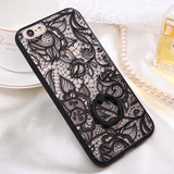 Fashion Sexy Lace Floral Case For iPhone 6 Case For iphone 6S 6 Plus Back Cover Retro Flowers Ring holder Stand Phone Cases HOT! - Hespirides Gifts - 4